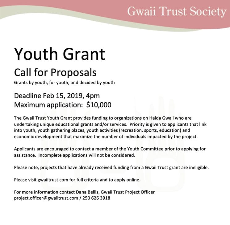 Youth Grant Call for Proposals
